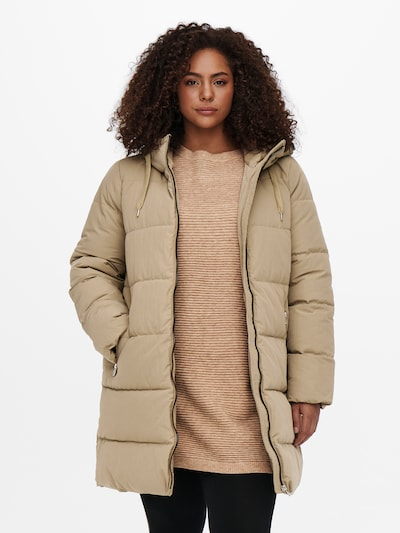 ONLY Carmakoma Winter Coat 'Dolly' in Camel, View model