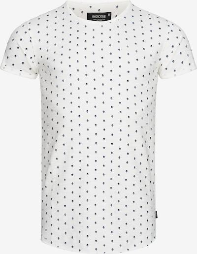 INDICODE JEANS Shirt ' Harper ' in de kleur Navy / Zwart / Wit, Productweergave