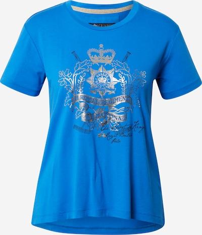 La Martina Koszulka w kolorze królewski błękit / srebrnym, Podgląd produktu