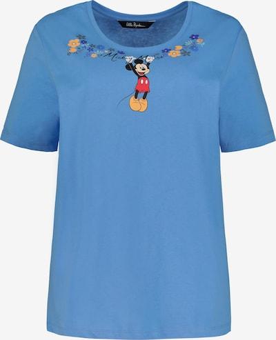 Ulla Popken Ulla Popken Damen große Größen T-Shirt 727251 in blau: Frontalansicht