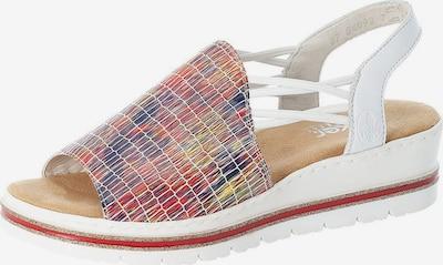 RIEKER Sandále - zmiešané farby / biela, Produkt