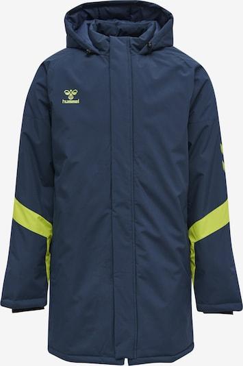 Hummel Sportjas in de kleur Navy / Limoen, Productweergave