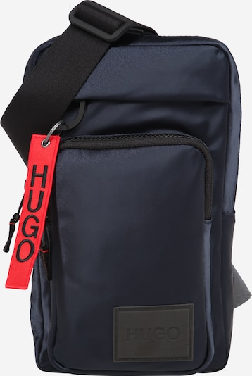 HUGO Torba preko ramena 'Kombinat' u tamno plava / lubenica roza / crna, Pregled proizvoda