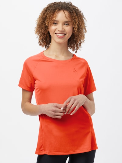 ODLO Functional shirt in neon orange: Frontal view