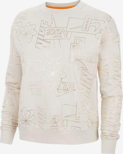 NIKE Sweatshirt in champagner / gold, Produktansicht
