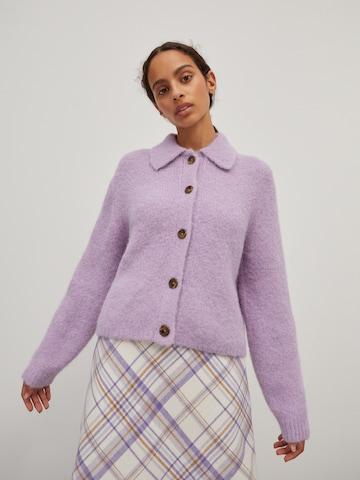 EDITED Knit Cardigan 'Emmarie' in Purple