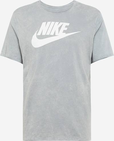 Nike Sportswear Shirt in hellgrau / weiß: Frontalansicht