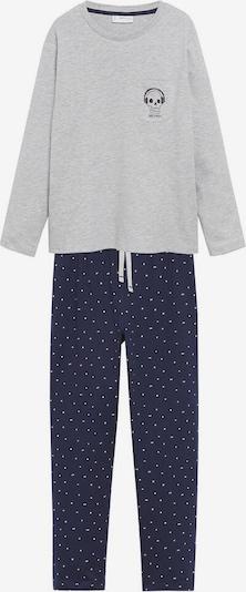 MANGO KIDS Pajamas in Dark blue / mottled grey / White, Item view