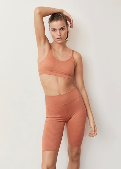 MANGO Shorts 'Claudi' in koralle, Modelansicht