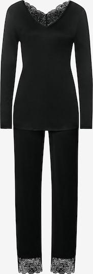 Hanro Langarm Pyjama ' Wanda ' in schwarz, Produktansicht