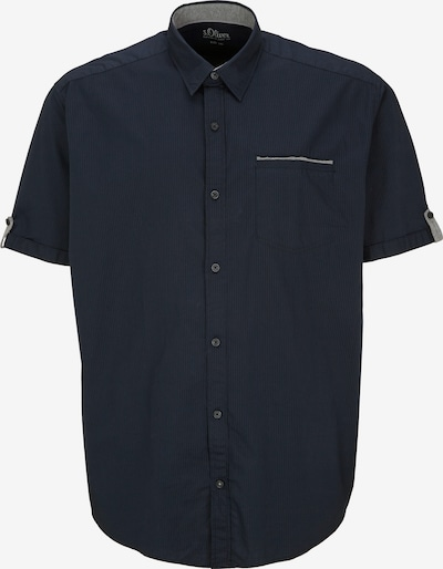 s.Oliver Men Big Sizes Hemd in marine / grau / schwarzmeliert, Produktansicht
