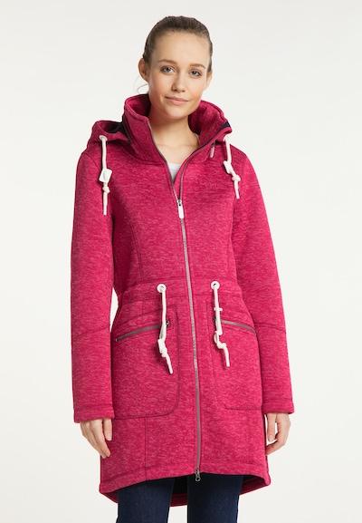 ICEBOUND Gebreide mantel in de kleur Pink, Modelweergave