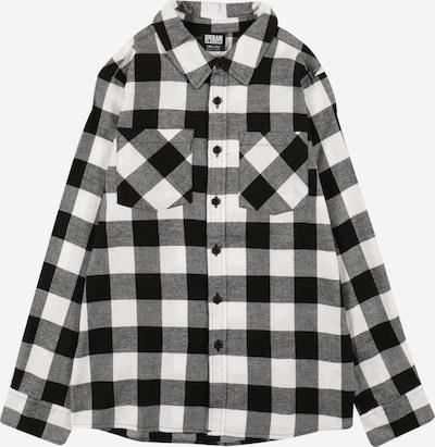 Urban Classics Kids Overhemd in de kleur Zwart / Wit, Productweergave