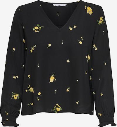 ONLY Bluse in gelb / schwarz, Produktansicht