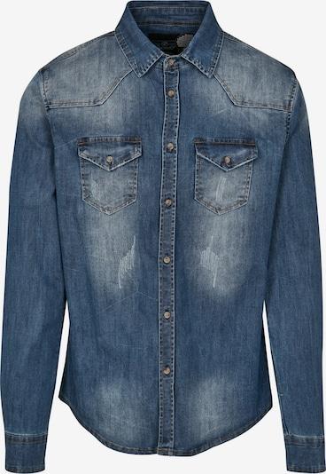 Brandit Hemd 'Riley' in blue denim, Produktansicht