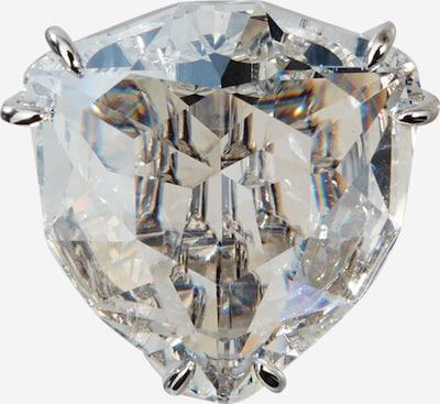 Cercei Swarovski pe argintiu / alb, Vizualizare produs