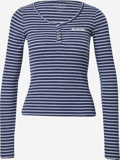 HOLLISTER Тениска в нейви синьо / бяло, Преглед на продукта