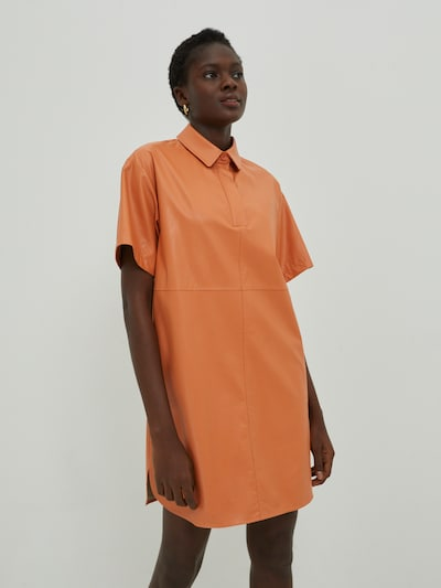 EDITED Kleid 'Charlotte' in orange, Modelansicht