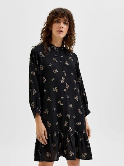 Rochie tip bluză SELECTED FEMME pe bej deschis / negru, Vizualizare model