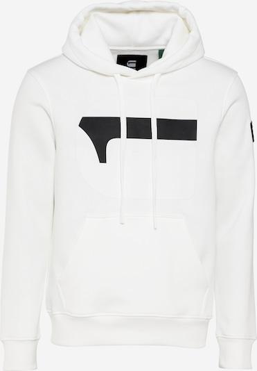 Bluză de molton G-Star RAW pe negru / alb, Vizualizare produs