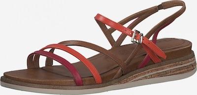 TAMARIS Sandale in brokat / koralle / pitaya, Produktansicht