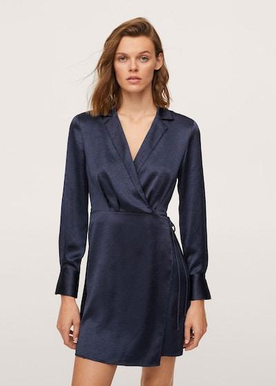 MANGO Kleid in nachtblau, Modelansicht