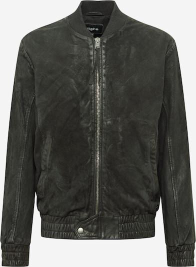 tigha Lederjacke 'Fudo' in schwarz, Produktansicht