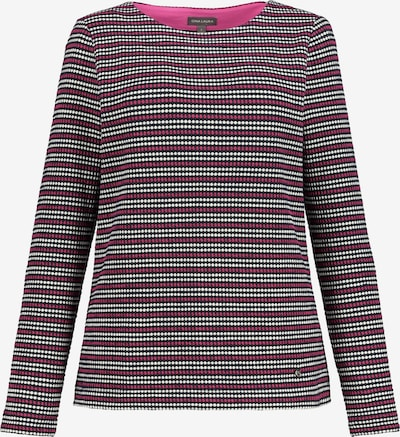 Gina Laura Sweatshirt in pink / weiß, Produktansicht