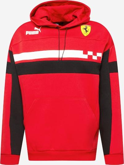 PUMA Sport sweatshirt 'Ferrari Race' i gul / röd / svart / vit, Produktvy