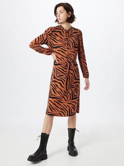 Rochie tip bluză 'Elsie' SAINT TROPEZ pe maro / negru, Vizualizare model