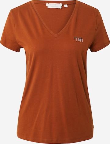 TOM TAILOR DENIM T-Shirt in Braun