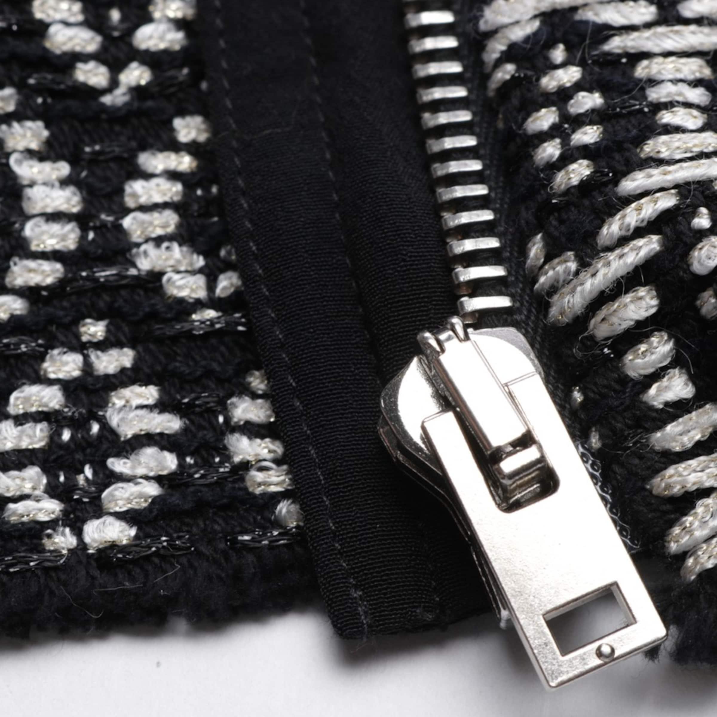 IRO Sommerjacke in schwarz / weiß