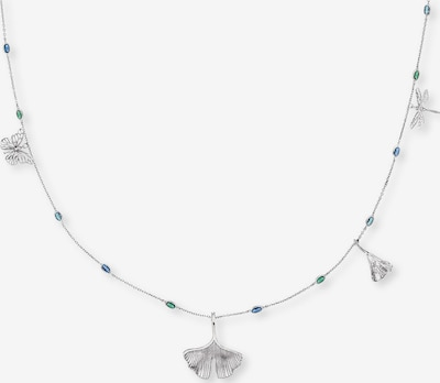 Engelsrufer Kette in blau / smaragd / silber, Produktansicht