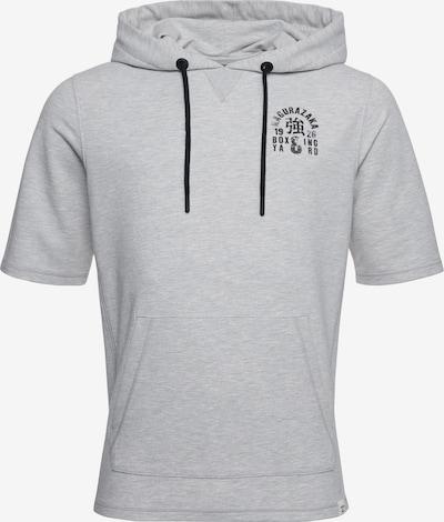 Superdry Sweat de sport en gris chiné / noir, Vue avec produit