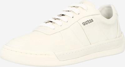 szürke / gyöngyház-fehér GUESS Rövid szárú edzőcipők 'STRAVE', Termék nézet
