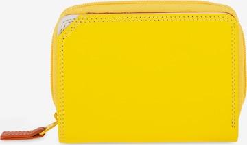mywalit Small Wallet Geldbörse Leder 10 cm in Gelb
