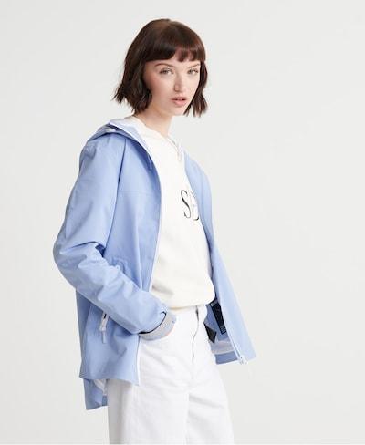 Superdry Tussenjas in de kleur Lichtblauw: Vooraanzicht