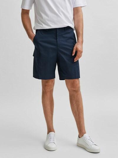 SELECTED HOMME Pantalon cargo en marine, Vue avec modèle
