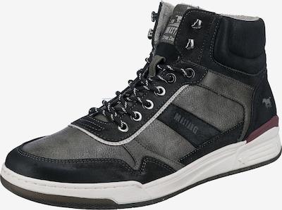 MUSTANG Sneaker in dunkelgrau / schwarz, Produktansicht
