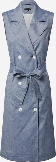 COMMA Kleid in dunkelblau / weiß, Produktansicht