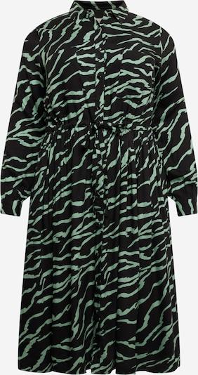 Rochie 'Zala' KAFFE CURVE pe verde / negru, Vizualizare produs