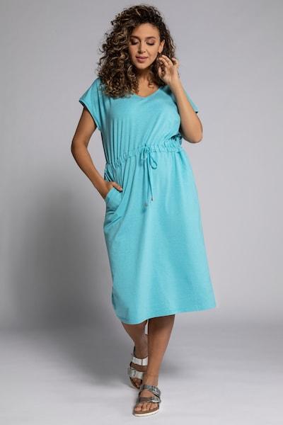 Ulla Popken Kleid in himmelblau, Modelansicht