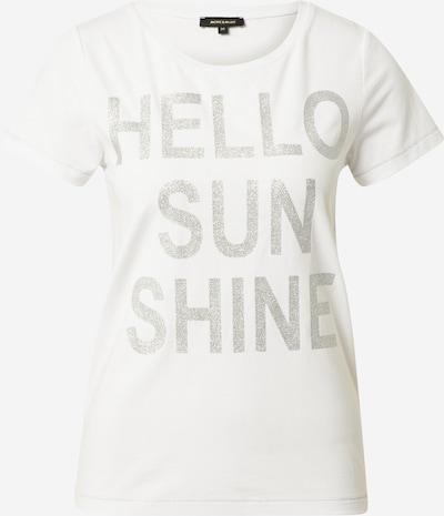 Tricou MORE & MORE pe argintiu / alb, Vizualizare produs