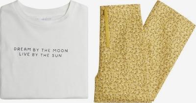 MANGO KIDS Pyjama 'Bruna' in senf / schwarz / weiß, Produktansicht