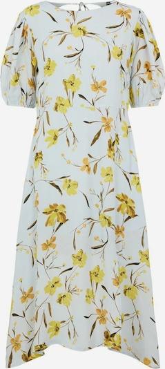 PIECES Kleid in hellblau / gelb, Produktansicht