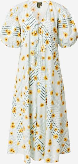 Résumé Dress 'Fanny' in Yellow / Petrol / Pastel green, Item view