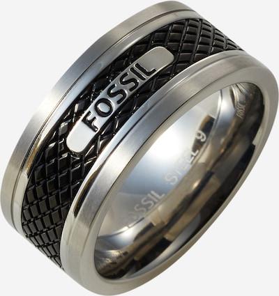 FOSSIL Bague en noir / argent, Vue avec produit
