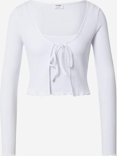Cotton On Cardigan 'VIOLETTA' en blanc: Vue de face