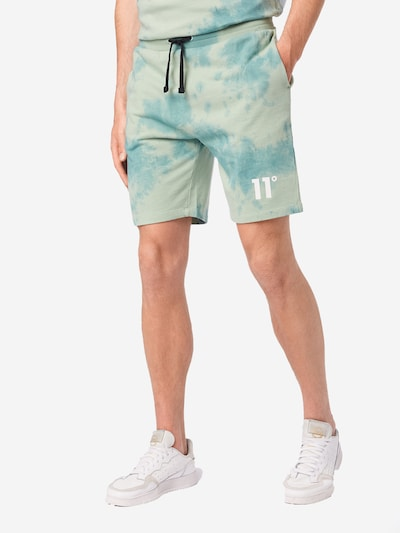 11 Degrees Nohavice - modrá / svetlozelená, Model/-ka
