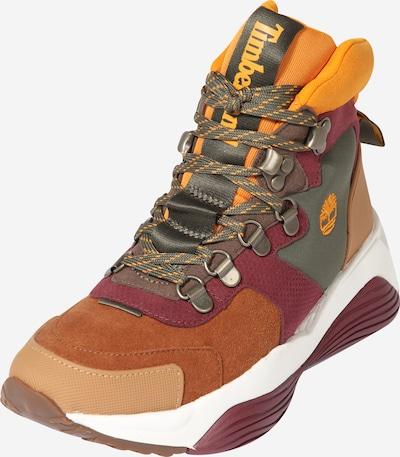 Suvarstomieji kulkšnis dengiantys batai 'Emerald Bay' iš TIMBERLAND , spalva - ruda / tamsiai žalia / oranžinė-raudona, Prekių apžvalga